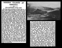 11th March 1864 - Flooding caused by burst dam in Sheffield