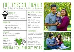Modern Family Christmas Photo Card and Letter by sugarhouseink