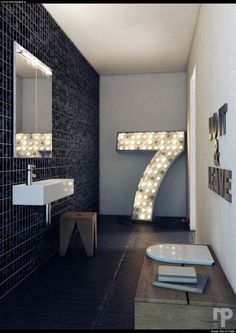 Neon signs for every letter and number you know! These unique lamps look amazing in every home and also as outdoor lights. Graphic Collection is all about cool lamps. | www.delightfull.eu | Visit us for more inspirations about: -marquee lamps, neon lamps, neon signs, marquee lights, marquee letters, marquee number, graphic lamps, graphic letters, graphic numbers, industrial design, industrial style, industrial lighting, industrial lamps, industrial loft ideas, industrial decor, industrial…