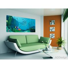 Disney Finding Nemo Kids Wall Mural is Perfect as Wall Decor for Kids Bedroom. WallandMore's Disney Murals are Unique and Can't Be Found Anywhere Else. All Products are Non-Toxic and Safe for Children's Room. Disney Wall Murals, Kids Wall Murals, Bedroom Wall, Kids Bedroom, Winnie The Pooh, Mickey Mouse, Butterfly Wall Decals, Finding Nemo, Disney Rooms