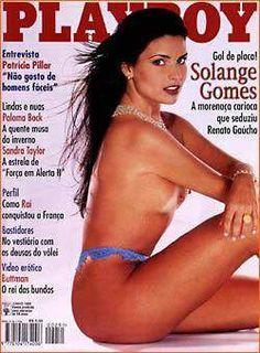Playboy –  Solange Gomes, A Musa de Renato Gaúcho! – Edição Junho 1996
