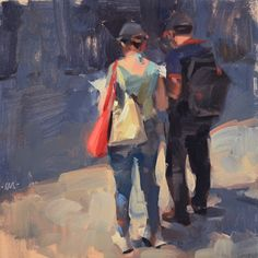 Sharing the Map. Carol Marine's Painting a Day