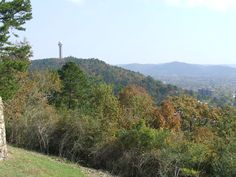 From the West Mountain overlook. Arkansas Mountains, Hot Springs Arkansas, Tower, Country Roads, Places, Nature, Travel, Rook, Naturaleza