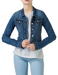 PERHAPS U – Being an unique fashion & casual house for women Update your denim collection with this short cropped denim jacket from PERHAPS U. Made from soft fabric, thin and lightweight, short denim jacket for women features button placket, chest patch pockets with flaps, long sleeves...  More details at https://jackets-lovers.bestselleroutlets.com/ladies-coats-jackets-vests/denim-jackets/product-review-for-perhaps-u-womens-short-cropped-denim-jacket-button-front