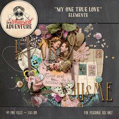 Valentine digital scrapbooking digital by AWhimsicalAdventure