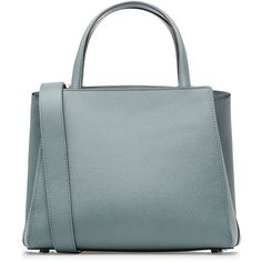 Valextra Leather Tote (73 460 UAH) ❤ liked on Polyvore featuring bags, handbags, tote bags, blue, blue leather tote, leather handbag tote, handbags totes, blue tote bag and leather purse
