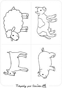 Omalovánky - Domácí zvířata II. Cute Drawings For Kids, Drawing For Kids, Farm Animal Coloring Pages, Coloring Books, Animal Projects, Animal Crafts, Farm Animals Preschool, Animal Templates, Animal Worksheets