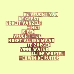 Quote van Forihaveseen.nl | @ErwinDeRuiter |  Vrucht van de Geest #ForIHaveSeen #ErwinDeRuiter #Quote