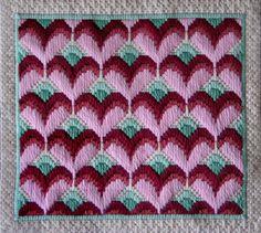 Long Stitch Hearts Needlepoint Pattern - About.com                                                                                                                                                      More