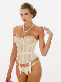 fc79405a5fd Beautiful sheer Merry Widow basque inspired by the original Merry Widow  Lana Turner wore. Our