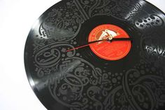 Crafts Using LP Records   Artistic Vinyl Canvases: The 'Record Time' Collection Exhibits Designs ...