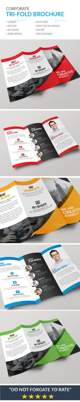 Trifold Business Brochure Brochures Template Pinterest