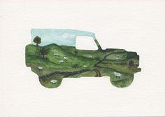 Land Rover Terrain Response Silhouette - Countryside
