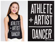 Sadie Jane Dancewear - Athlete Artist Racerback Tank, $28.00 (http://www.sadiejane.com/athlete-artist-racerback-tank/)