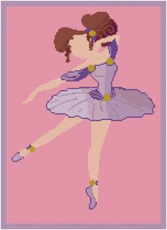 BOGO FREE !!! Megara princess cross stitch pattern/disney cross stitch/disney princess/disney cross stitch/ballet cross stitch/#01-039  CROSS STITCH PATTERN (Intermediate Level / INTERMEDIATE LEVEL) (Patterns are in both Single page and multi-page enlarge