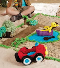 Kids Crochet Playmat from @joannstores