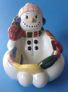 cute snowman candy dish serving bowl for christmas or all winter unbranded cute snowman - Christmas Candy Dishes