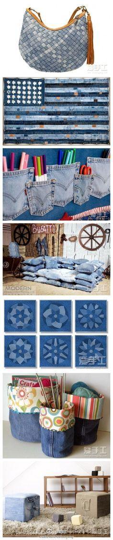 Varias formas de reutilizar unos jeans