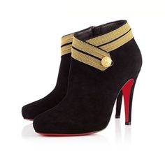 Christian Louboutin Marychal 100mm Suede Black