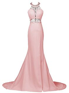 Dresstells® Long Mermaid Prom Dress Beadings Halter E…