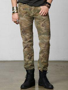 Denim Supply Ralph Lauren Men Military US Army Camo Slim Moto Biker Rider Jeans Us Army Camo, Military Army, Moto Biker, Fashion Instagram Accounts, All Black Men, Fashion Hashtags, Rider Jeans, Denim And Supply, Slim Fit Pants