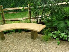 Curved Wooden Garden Bench Design Ideas Plastic Furniture