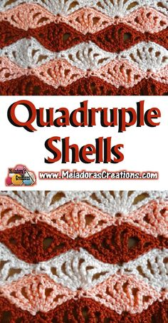 Quadruple Shells – Free Crochet Pattern #crochet #crocheting #Crochetstitch #freecrochetpattern #crochetpattern #crochettutorial