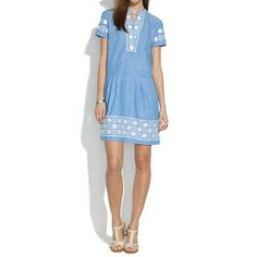 Madewell - Chambray Sunstitch Tunic Dress