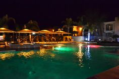 Pool at night | University of Arizona