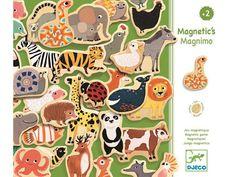 42 farbenfrohe magnetische Holzteile mit Tier-Motiven von Djeco. Es macht riesigen Spaß damit zu spielen und zum Beispiel auf der Wand des Kühlschranks immer neu zu arrangieren. Geeignet für Kinder ab 2 Jahren.