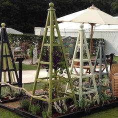 Wooden Garden Obelisk stand at RHS Tatton Park Flower Show 2015