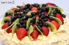 Quay Po Cooks: Pavlova or Palova Dessert Names, Delicious Desserts, Dessert Recipes, Meringue Desserts, Anna Pavlova, Melt In Your Mouth, Fruit Salad, The Creator, Favorite Recipes