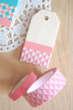 handmade tags About the nice things: DIY gift tags Washi Tape Cards, Handmade Gift Tags, Diy Gift Tags, Paper Tags, Paper Gifts, Tape Crafts, Card Tags, Diy Gifts, Nice Things