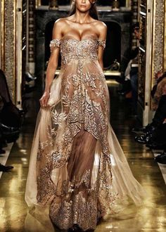 Gold Aztec Egyptian style dress