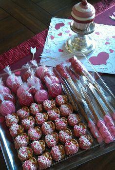 Valentines day Wilton chocolate oreo molds and pretzel molds