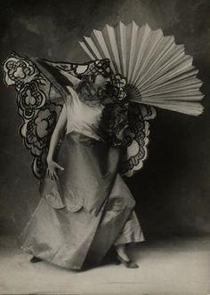 Natalia Sergeevna Goncharova (1881-1962) Russian avant-garde artist, painter, costume designer, writer, illustrator, and set designer. Photographer anonymous.
