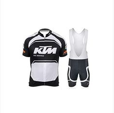 Mens Breathable Pro Cycling Team Bicycling Jerseys and Cycling Shorts Bib  Kit XL WhiteBlack -- 05d869e9f