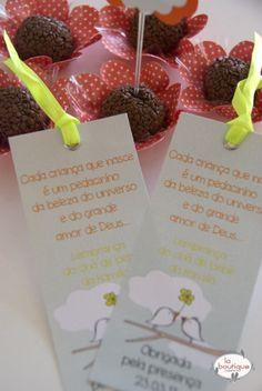 Marca paginas personalizado para lembrancinha de maternidade