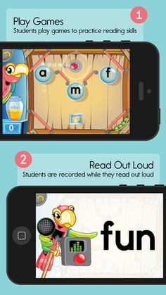 "Bam Boomerang ($0.00) gets children reading out loud and gives them the effective, one-on-one feedback they need to practice basic literacy skills.  Step 1 - Play Games Students play games, earn points, win virtual prizes and customize their own animated world. Step 2 - Read Out Loud As they play, the students read letter sounds and words aloud while the app records their voice. Step 3 - Adults Listen Student recordings are sent digitally to one of our army of volunteer ""Listeners"""