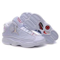 new arrival d8f5b b2ce5 Air Jordan Retro 13 Shoes All White Tennis Deportivos, Tenis, Zapatillas  Deportivas, Hombres