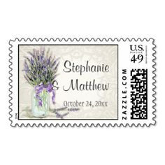 Rustic Country Mason Jar Lace n Lavender Floral Stamps. This is a fully customizable business card and available on several paper types for your needs. You can upload your own image or use the image as is. Just click this template to get started!