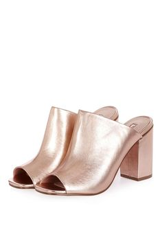 955fc4b3c7c4 RULE Metallic Mules Sexy Heels