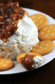 Blue Cheese Spread with Onion-Pear Jam