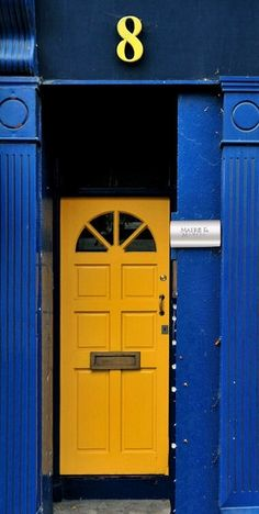 Dublin, Ireland love this door and the color to bad my hubby doesn't lol
