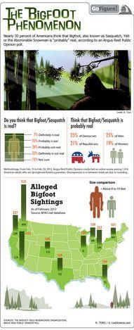 The Bigfoot Phenomenon #infographic #infografia