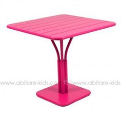 LUXEMBOURG by Fermob Table 80x80 cm fuchsia
