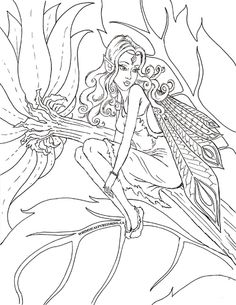 Fairy Fae Fantasy Myth Mythical Mystical Legend Elf Wings Fantasy Elves Faries Coloring pages colouring adult detailed advanced printable Kleuren voor volwassenen coloriage pour adulte anti-stress kleurplaat voor volwassenen http://whimsicalpublishing.ca/childs-play/colouring-pages/