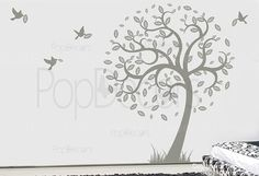 Here is hope tree wall decal with some flying birds    [Size] (the tree is to the left side)  the whole tree with leaves: 78(198cm) H * 66(166cm)W