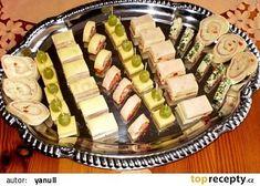 Slané pohoštění recept - TopRecepty.cz Diy Food, Finger Foods, Food Art, Tapas, Zucchini, Sushi, Buffet, Food And Drink, Appetizers