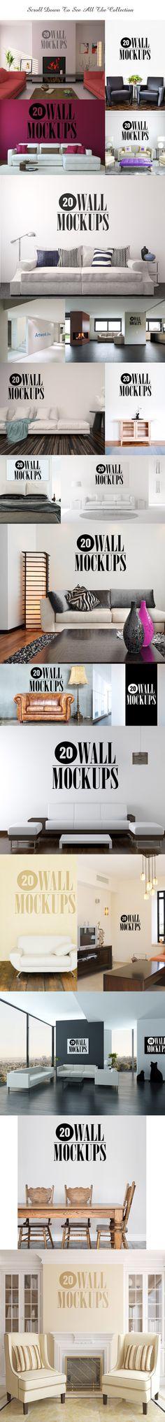 20 Wall Art Mockups by Limedot on Creative Market